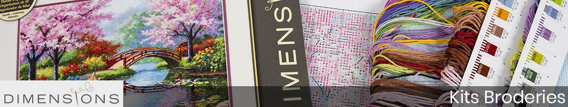 Broderies Dimensions : kits de points de croix et ornements