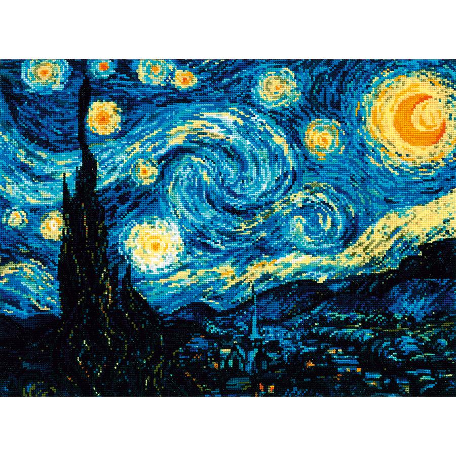 Van Gogh Nuit /Étoil/ée C/él/èbre Art Classique Design /Él/égant PopSockets PopGrip Support et Grip pour Smartphone//Tablette avec un Top Interchangeable