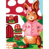 Kit de canevas pour enfant - Luc Créations - Madame lapin