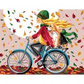 Canevas Pénélope  - Luc Créations - A bicyclette