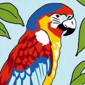 Kit de canevas pour enfant - SEG de Paris - Le perroquet