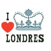Kit point de croix - Points de repère - I love London