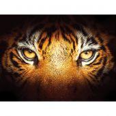 Kit de broderie Diamant - Diamond Painting - Regard de tigre