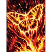 Kit de broderie Diamant - Diamond Painting - Papillon ardent