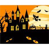 Kit de peinture par numéro - Wizardi - Sorcière d'Halloween