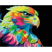 Kit de peinture par numéro - Wizardi - Aigle arc-en-ciel