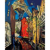 Kit de peinture par numéro - Wizardi - Paris romantique