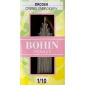 Aiguilles à broder - Bohin - Aiguilles à broder main n°1 à 10