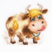 Kit point de croix - Alisa - Bébé taureau