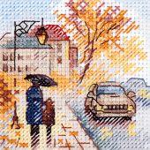 Kit point de croix - Alisa - Boulevard sous la pluie