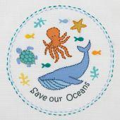 Kit de broderie pour enfant - Anchor - Sauvons nos océans