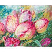 Kit point de croix - Andriana - Tulipes