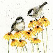 Kit point de croix - Bothy Threads - Oiseaux bavards