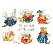 Kit point de croix - Bothy Threads - Les chats en cuisine