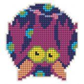 Support magnet broderie Diamant - Collection d'Art - Chauve-souris