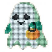 Support magnet broderie Diamant - Collection d'Art - Fantôme d'Halloween