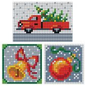 Sticker broderie Diamant - Collection d'Art - Planche 3 autocollants - Décoration de Noël