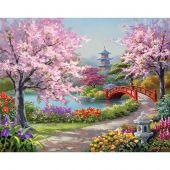 Kit de broderie Diamant - Collection d'Art - Jardin japonais
