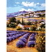 Canevas Pénélope  - Collection d'Art - Champ de lavande