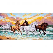 Canevas Pénélope  - Collection d'Art - Cavalcade en bord de mer