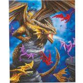 Kit de broderie Diamant sur châssis - Crystal Art D.I.Y - Clan de dragons