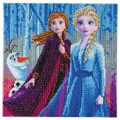 Kit de broderie Diamant sur châssis - Crystal Art D.I.Y - Elsa, Anna et Olaf