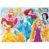 Kit de broderie Diamant sur châssis - Crystal Art D.I.Y - Les princesses Disney