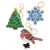 Porte-clés Broderie Diamant - Crystal Art D.I.Y - Symboles de fêtes