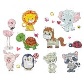 Sticker broderie Diamant - Crystal Art D.I.Y - Set Amis animaux