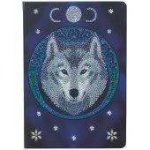 Carnet broderie Diamant - Crystal Art D.I.Y - Lune de loup