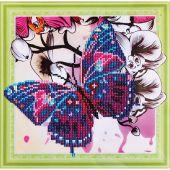 Support carton broderie Diamant - RTO - Papillon et orchidées