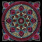 Carte broderie Diamant - Crystal Art D.I.Y - Mandala
