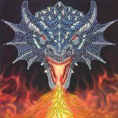Carte broderie Diamant - Crystal Art D.I.Y - Dragon
