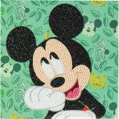 Carte broderie Diamant - Crystal Art D.I.Y - Joyeux Mickey