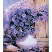 Kit de broderie avec perles - Charivna Mit - Violettes