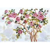 Kit point de croix avec perles - Charivna Mit - Rosier fleuri