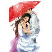 Kit point de croix - Charivna Mit - Couple sous le parapluie