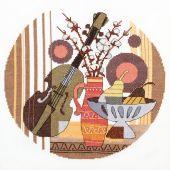 Kit point de croix avec perles - Charivna Mit - Musique...