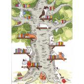 Kit point de croix - Charivna Mit - Bibliothèque dans la forêt