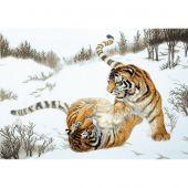 Kit point de croix - Charivna Mit - Tigres espiègles