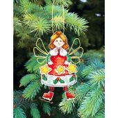 Kit d'ornement à broder - Charivna Mit - Jouets de Noël : patineuse