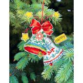 Kit d'ornement à broder - Charivna Mit - Jouets de Noël : Cloches