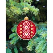Kit d'ornement à broder - Charivna Mit - Joyeux Noël:  Boule géométrique 4
