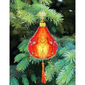 Kit d'ornement à broder - Charivna Mit - Lanternes colorées : Rouge