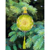 Kit d'ornement à broder - Charivna Mit - Lanternes colorées : Verte