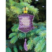 Kit d'ornement à broder - Charivna Mit - Lanternes colorées : Violette