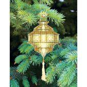 Kit d'ornement à broder - Charivna Mit - Lanternes colorées : Jaune pâle