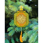 Kit d'ornement à broder - Charivna Mit - Lanternes colorées : Jaune et verte