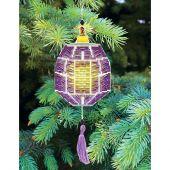 Kit d'ornement à broder - Charivna Mit - Lanternes colorées : Violet Foncé