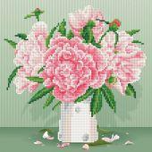 Kit de broderie Diamant - Diamond Art - Roses anglaises
